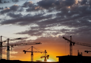 Image of construction cranes